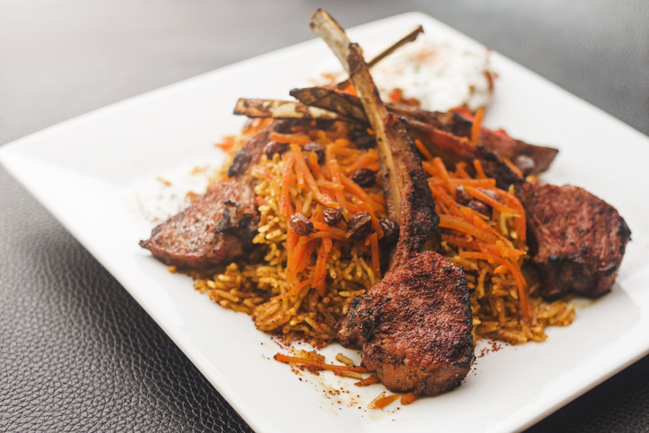 An authentic meat and potato dish from Afghan restaurant in Ellicott City